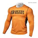 Tight function long sleeve, orange/grey