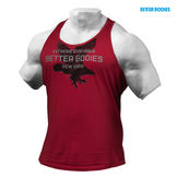 Better Bodies Front Printed T-Back Jester Red Front