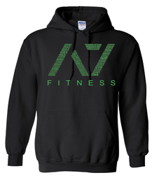 A7 Fitness Bar Grip Hoodie Black-Green