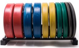 Color coded Bumber Olympic Bumber Plates 5-25kg