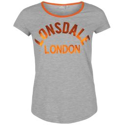 Lonsdale LL Crew Womens Tee Grey