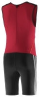 Adidas CL Wtlg Weightlifting Singlet Black Red