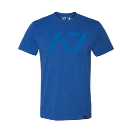 A7 Fitness Bar Grip T-Shirt Blue
