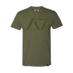 A7 Fitness Bar Grip T-Shirt Military Green