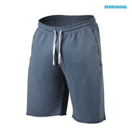 Better Bodies Big Print Sweatshorts, ocean blue