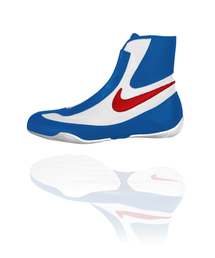 Nike Machomai Mid - Boxing Shoe (Blue/White/Red)