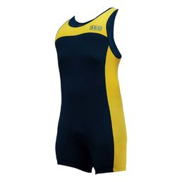 SBD Lifting Singlet Navy/Yellow Summer Range LIMITED EDITION