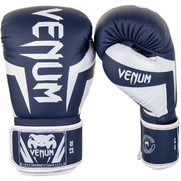 Venum Elite Boxing Gloves WhiteNavy
