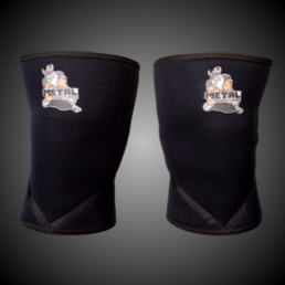 Metal Knee Warmer IPF approved (2 pcs)