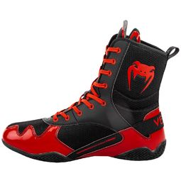 Venum Elite Boxing Shoes, Black-Red