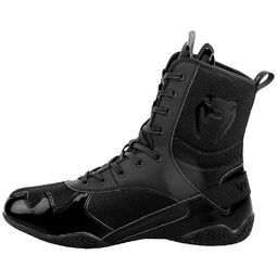 Venum Elite Boxing Shoes, Black-Black