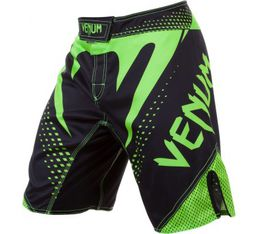 Venum Hurricane Fight Shorts - Black/Neo Yellow